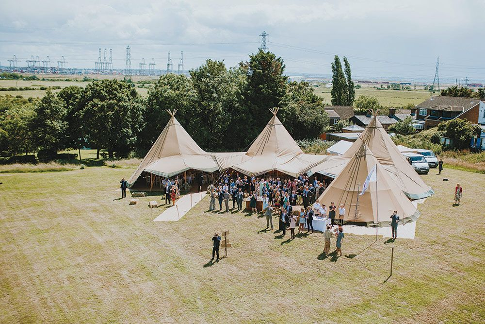 Norred S Weddings And Events: Alexa & Jamie's Festival Style Tipi Wedding