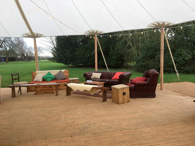 Chill Out Area for Tipis & Sailcloth Tents