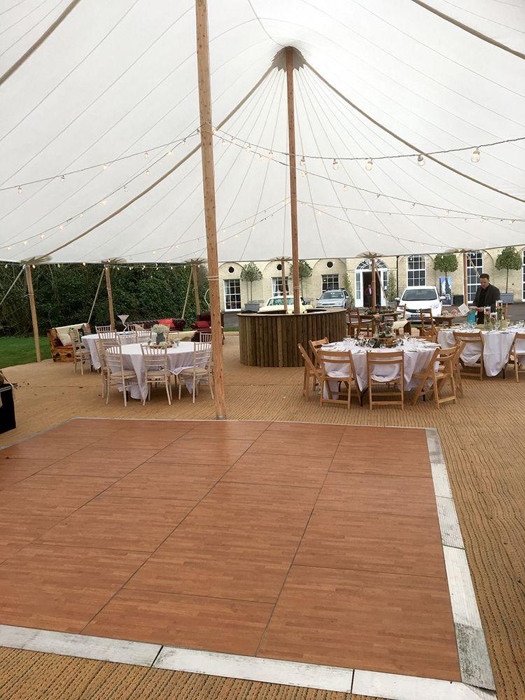 Sailcloth Tent Parquet Dance Floor