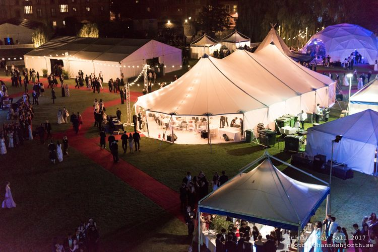 Sailcloth Tents at the Trinity May Ball