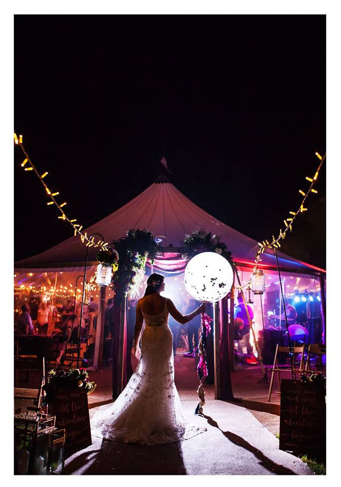 Sailcloth Wedding Entrance