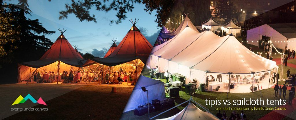 Tipi vs Sailcloth Tent Hire Image