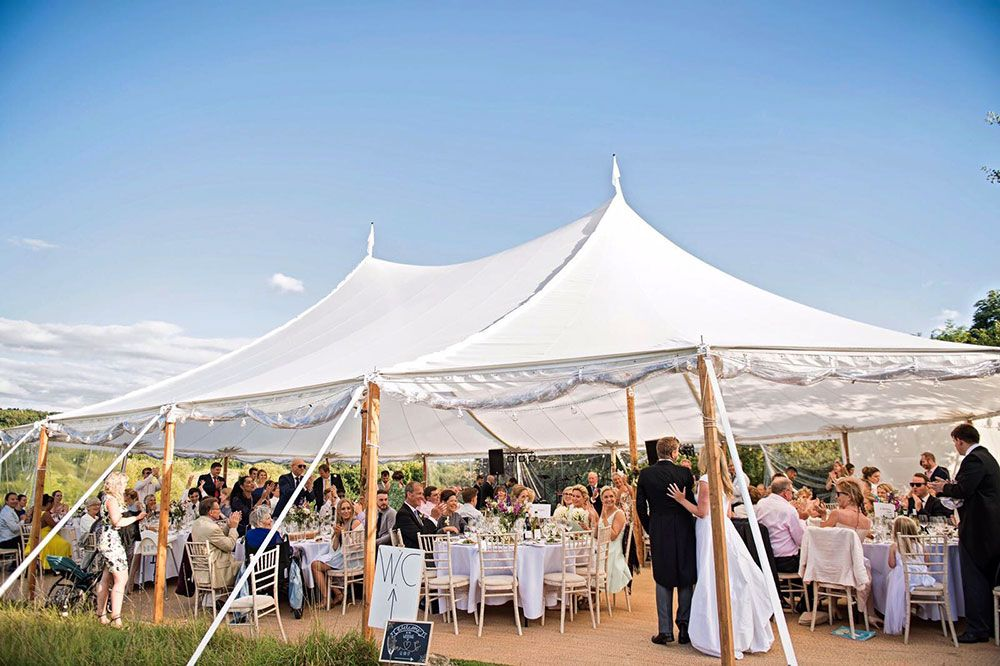 Sailcloth Tent Wedding Hire