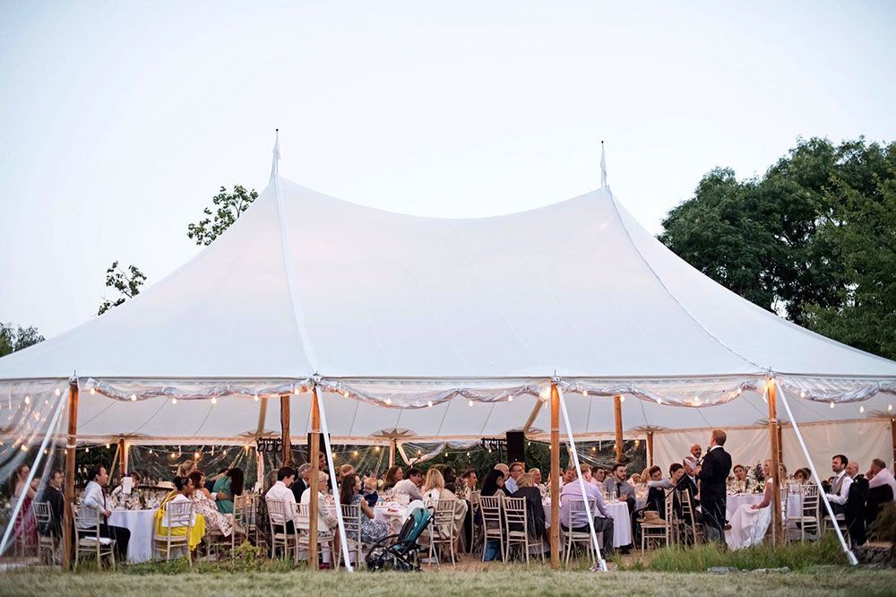 Sailcloth Tent Hire Wedding