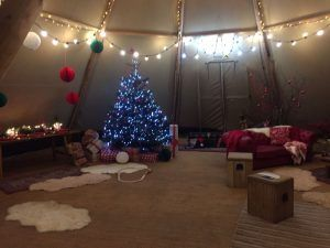 Christmas Tipi Hire
