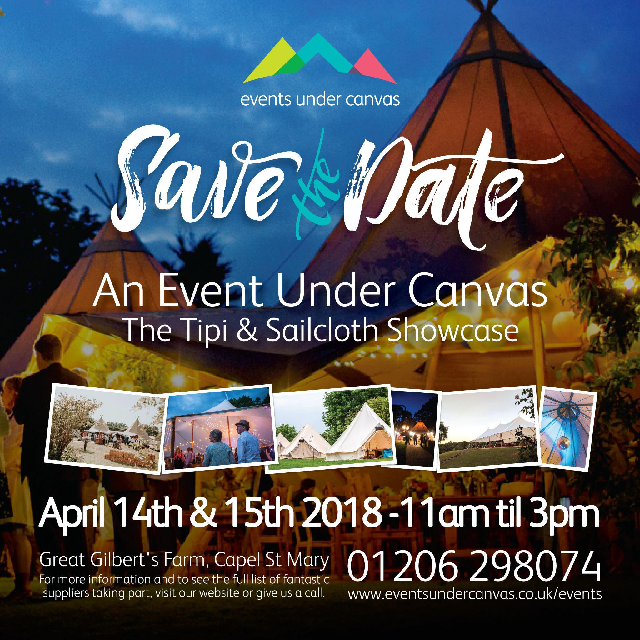 Save the date for tipis & sailcloth tents