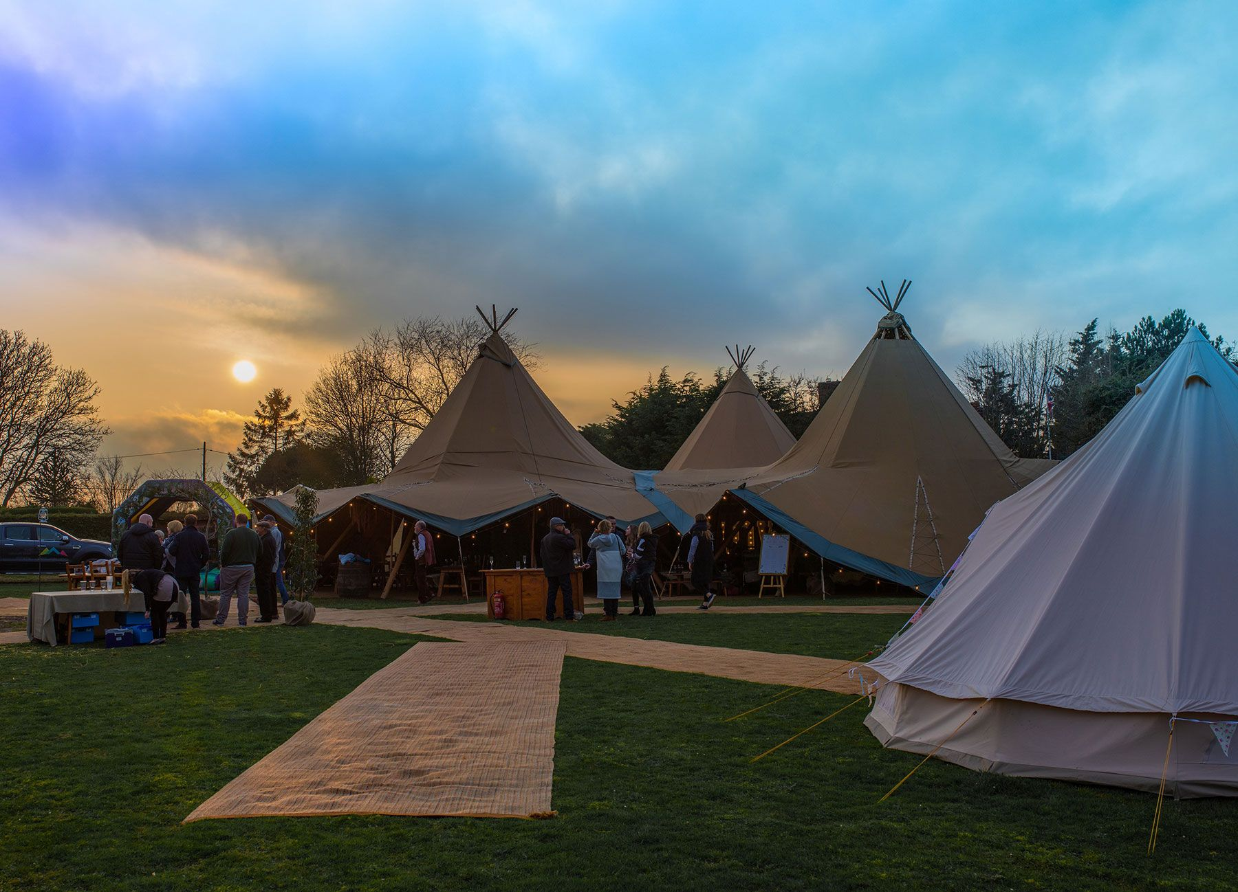 Tipis for Hire, weddings, parties & corporate events
